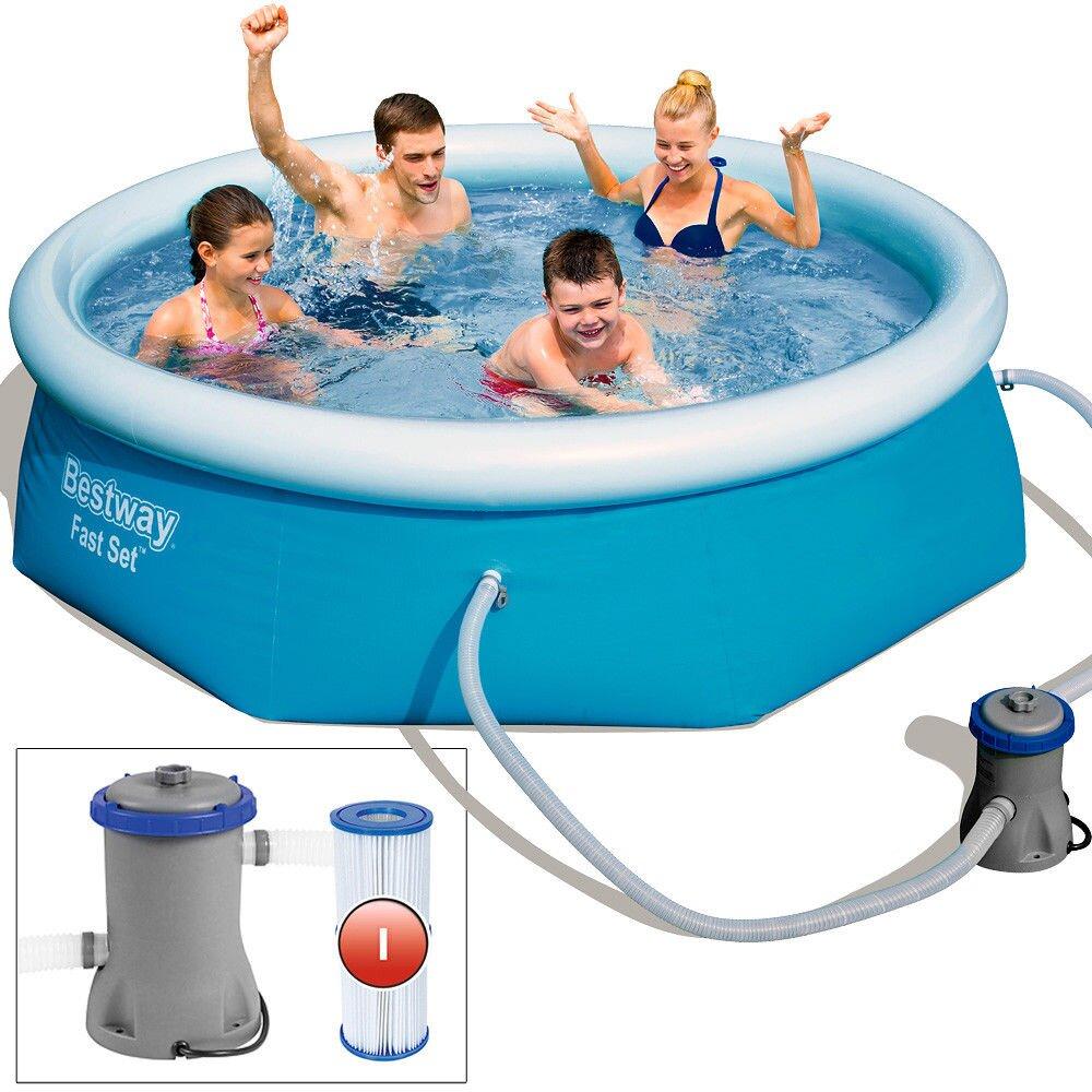 Bazén Fast Set Poolset 244 X 66 Cm Vrátane Filtračnej Pumpy 57268