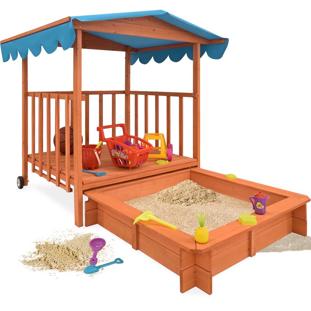 detsk pieskovisko s verandou 130cm x 130cm x143 cm. Black Bedroom Furniture Sets. Home Design Ideas