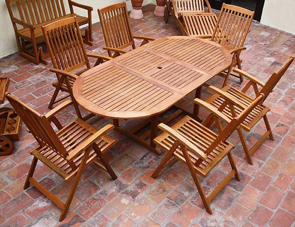 c8b61f8a6a668 Záhradný nábytok z dreva eukalyptu VANAMO 6+1   Jurhan.com